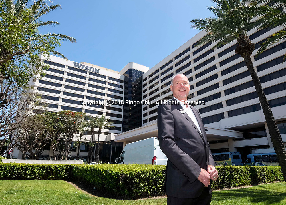Phil Baxter, General Manager, Westin LAX Hotel.(Photo by Ringo Chiu)<br /> <br /> Usage Notes: This content is intended for editorial use only. For other uses, additional clearances may be required.