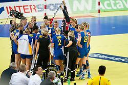 10-12-2014 CRO: EHF EK Nederland - Zweden, Varazdin<br /> Team Sweden during handball match between Netherlands and Sweden at 11th EHF European Women's Handball Championship Hungary-Croatia 2014<br /> *** USE NETHERLANDS ONLY ***