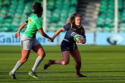 Hannah Bluck of Worcester Warriors Women is confronted by Lagi Tuima of Harlequins Women  - Mandatory by-line: Nick Browning/JMP - 20/12/2020 - RUGBY - Sixways Stadium - Worcester, England - Worcester Warriors Women v Harlequins Women - Allianz Premier 15s