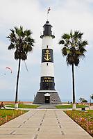 Faro La Marina Lighthouse in Miraflores, Lima, Peru