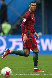 June 24, 2017 - Saint Petersburg, Russia - Cristiano Ronaldo of the Portugal national football team vie for the ball during the 2017 FIFA Confederations Cup match, first stage - Group A between New Zealand and Portugal at Saint Petersburg Stadium on June 24, 2017 in St. Petersburg, Russia. (Credit Image: © Igor Russak/NurPhoto via ZUMA Press)