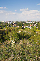 Krakow viewed from Zakrzowek near Ludwinow in Krakow Poland