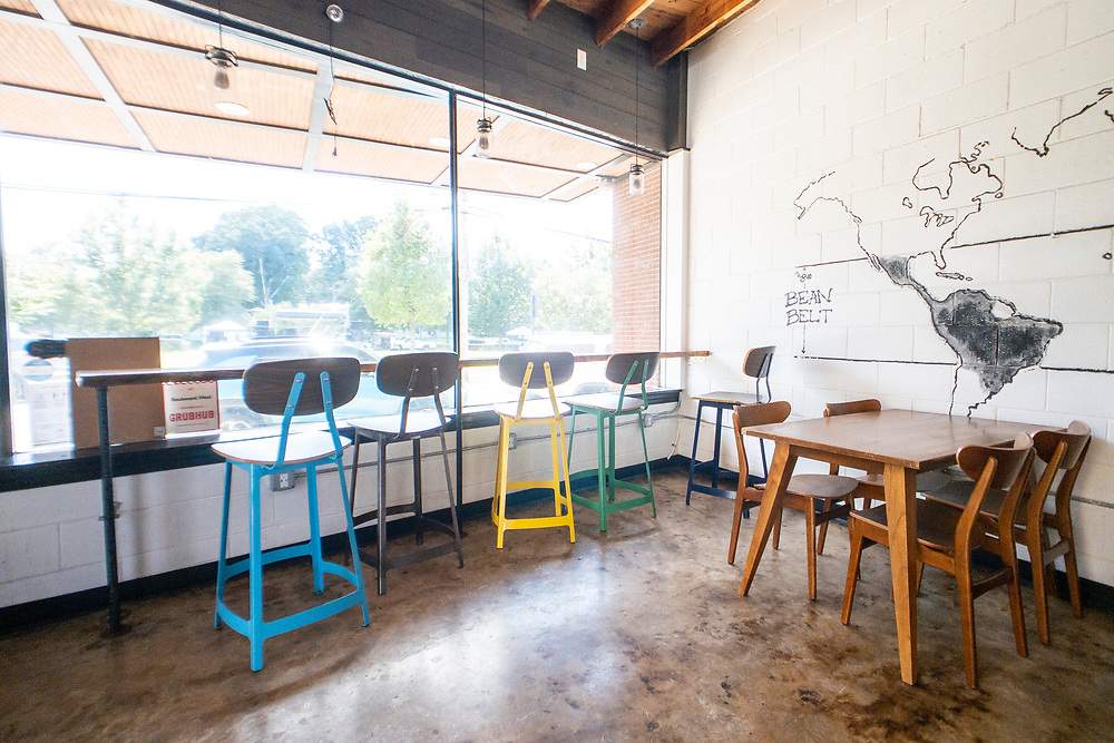 Indoor seating at Boulevard West in Clayton, North Carolina on Thursday, August 19, 2021. Copyright 2021 Jason Barnette
