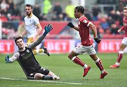 Bristol City's Bobby Read scores to make it 1-0 against Sheffield Wednesday