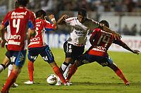 20120307: SAO PAULO, BRAZIL - Player  Viveros; Paulinhos and Villarreal during Corinthians (Brasil) vs Nacional (Paraguai) for Copa Libertadores held at Pacaembu stadium in SP<br /> PHOTO: CITYFILES