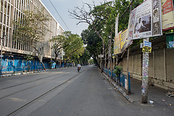 Deserted College street in Kolkata, it is the largest book market in the country and is one of the most important and recognised places in the city. India is going through the 2nd phase of lockdown due to covid 19 pandemic. This is to curb the spread of Covid 19 in the country. The second phase is handled with more strict rules by the administration. Kolkata, West Bengal, India, April 19, 2020. Photo by Arindam Mukherjee/ABACAPRESS.COM
