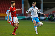 Ashley Nadesan on the ball during the EFL Sky Bet League 2 match between Walsall and Crawley Town at the Banks's Stadium, Walsall, England on 18 January 2020.