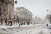 The Metropolitan Museum of Art during the blizzard of 2016