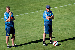 July 4, 2018 - Gelendzhik, Russia - 180704 Assistant coach Peter Wettergren and head coach Janne Andersson  of the Swedish national football team at a practice session during the FIFA World Cup on July 4, 2018 in Gelendzhik..Photo: Petter Arvidson / BILDBYRÃ…N / kod PA / 92081 (Credit Image: © Petter Arvidson/Bildbyran via ZUMA Press)