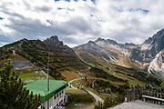 Stubai Alps Landscape. Photographed at the Schlick 2000 ski centre, Stubai, Tyrol, Austria in September