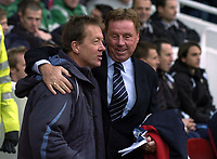 Photo: Olly Greenwood.<br />West Ham United v Portsmouth. The Barclays Premiership. 26/12/2006. West Ham manager Alan Curbishley and Portsmouth manager Harry Redknapp