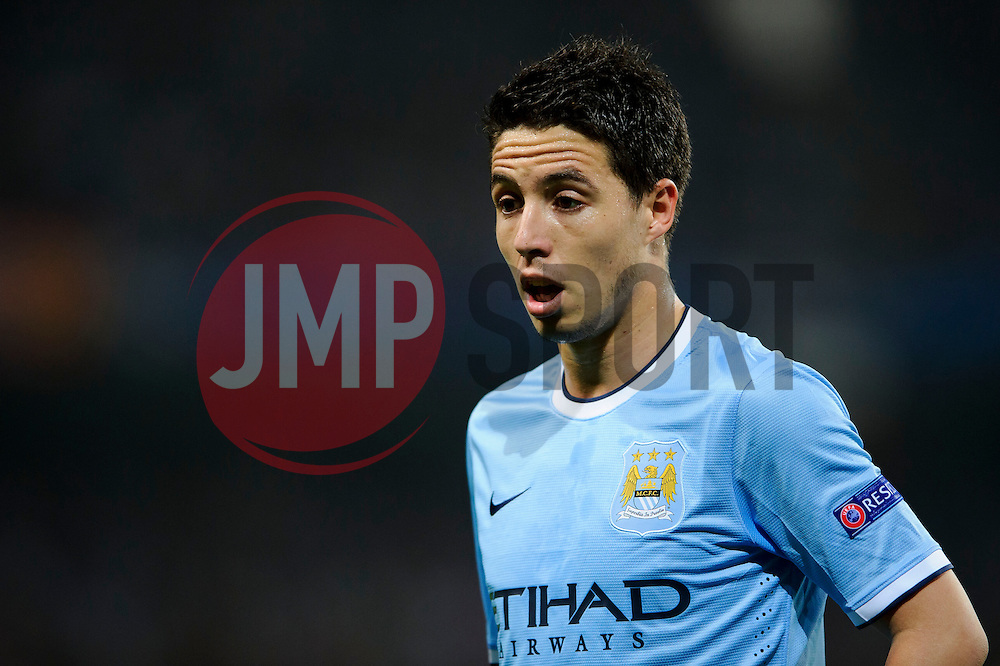 Man City Midfielder Samir Nasri (FRA) looks on during the second half of the match - Photo mandatory by-line: Rogan Thomson/JMP - Tel: Mobile: 07966 386802 - 02/10/2013 - SPORT - FOOTBALL - Etihad Stadium, Manchester - Manchester City v Bayern Munich - UEFA Champions League Group D.