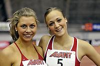 Friidrett<br /> Innendørslandskamp<br /> Norge - Sverige - Finland<br /> Tammerfors <br /> 05.02.2011<br /> Foto: Deca / Digitalsport<br /> NORWAY ONLY<br /> <br /> Øyunn Grindem (R) og Tonje Angelsen