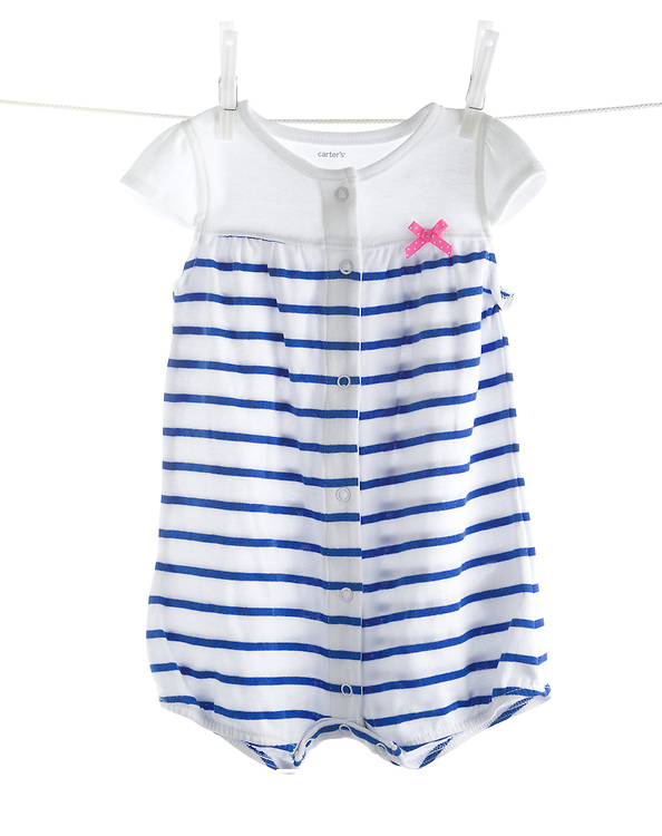 Children's clothing photographed on white background