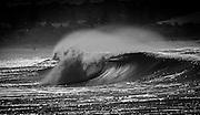 Empty hollow wave breaking in morning light at Gerringong, east coast, Australia