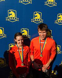 Boston Marathon: BAA 5K road race, Ben True and Molly Huddle, both set new American records for 5k Road