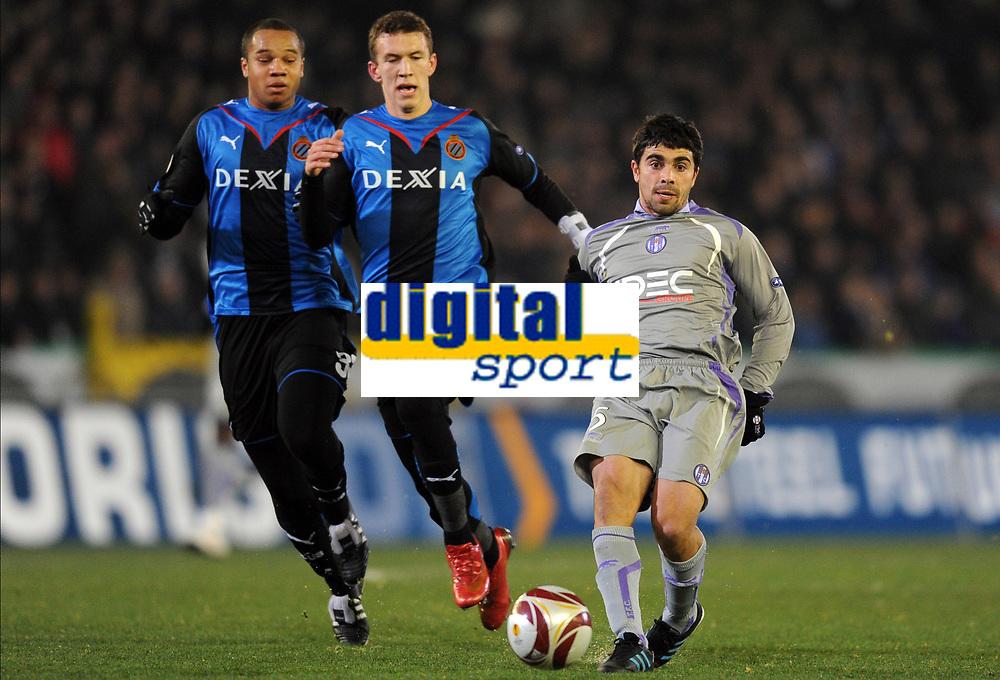 BRUGGE 16/12/2009  SPORT / FOOTBALL / VOETBAL / CLUB BRUGGE BRUGES KV - FC TOULOUSE  / IVAN PERISIC - PAULO MACHADO<br />  / LIGUE EUROPEENNE - EUROPA LEAGUE UEFA GROUP J<br />  / PICTURE BY VINCENT KALUT - GEERT VANDEN WIJNGAERT / PHOTO NEWS / DPPI