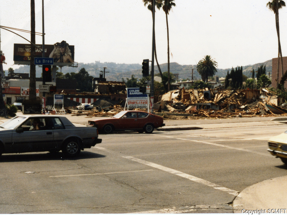 1984 Demolition of Tiny Naylor's at Sunset Blvd. & La Brea Ave