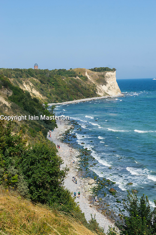 Coast cliffs at Cape Arkona near Putgarten on Wittow Peninsula on Rugen Island in Germany