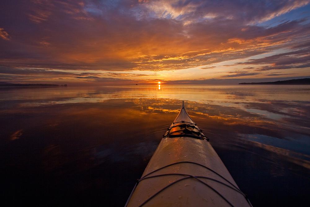 Kayak at Dawn, Rockland Harbor, Maine