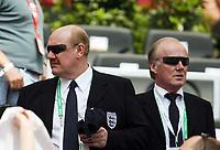 Photo: Chris Ratcliffe.<br /> England v Paraguay. Group B, FIFA World Cup 2006. 10/06/2006.<br /> Brian Barwick and David Davies watch.