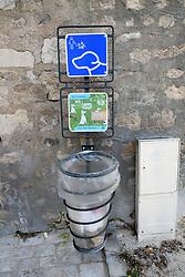 Dog waste bin, Orleans, Loire Valley, France