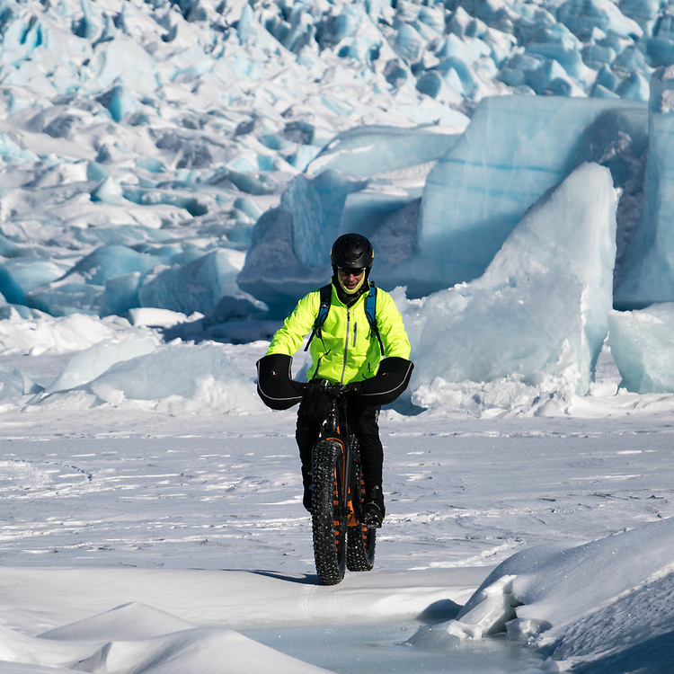 Fatbiking Knik Glacier 2017-03-17
