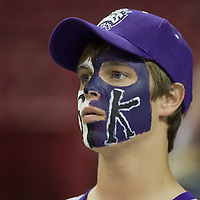 18 April 2007: A Kings fan is seen during the Los Angeles Lakers 117-106 victory over the Sacramento Kings at the Arco Arena in Sacramento, CA.