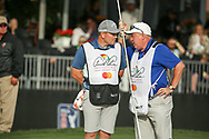Caddies Matthew Kelly and Michael Donaghy on the 17th during the final round of the Arnold Palmer Invitational presented by Mastercard, Bay Hill, Orlando, Florida, USA. 08/03/2020.<br /> Picture: Golffile   Scott Halleran<br /> <br /> <br /> All photo usage must carry mandatory copyright credit (© Golffile   Scott Halleran)