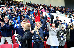 Bristol Rugby fans celebrate a try - Mandatory byline: Robbie Stephenson/JMP - 25/05/2016 - RUGBY UNION - Ashton Gate Stadium - Bristol, England - Bristol Rugby v Doncaster Knights - Greene King IPA Championship Play Off FINAL 2nd Leg.