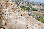 Israel, West Bank, Judaea, Herodion a castle fortress built by King Herod 20 B.C.E. Herod's tomb