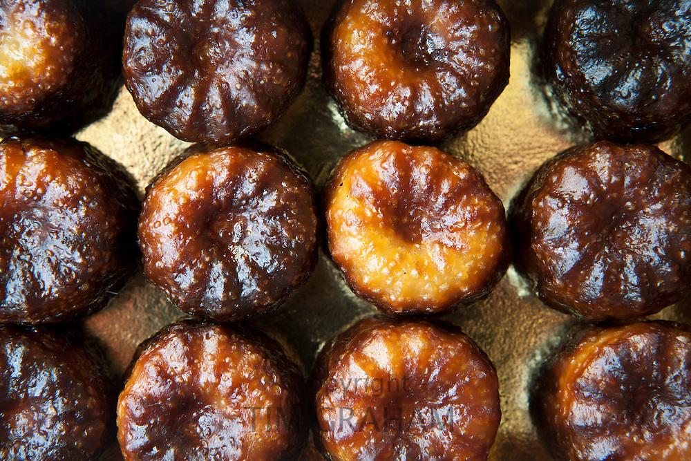 Speciality French patisserie gateau cakes from Lemoine in Bordeaux France, Le Canele de Bordeaux