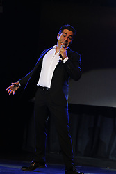 """ANAHEIM, CA - OCTOBER 8: Actors and comedians Adrian Uribe and Omar Chaparro perform on stage during the presentation of their comedy """"Los Imparables"""" at the M3 Live in Anaheim, California on October 8, 2016.  Byline, credit, TV usage, web usage or linkback must read SILVEXPHOTO.COM. Failure to byline correctly will incur double the agreed fee. Tel: +1 714 504 6870."""