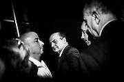 Pier Luigi Bersani, segretario del Partito Democratico, durante la manifestazione contro la povertà organizzata al quartiere periferico Corviale. Roma, 13 aprile 2013. Christian Mantuano / OneShot