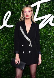 Laura Whitmore attending the Fashion Awards 2019 at the Royal Albert Hall, Kensington Gore, London. PA Photo. Picture date: Monday December 2, 2019. See PA story SHOWBIZ Fashion. Photo credit should read: Ian West/PA Wire