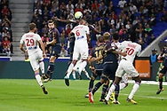 Marcelo Guedes (OL) Lucas Tousart (OL) Bertrand Traore (OL) during the French Championship Ligue 1 football match between Olympique Lyonnais and Dijon FCO on September 23, 2017 at Groupama stadium in Lyon, France - Photo Romain Biard / Isports / ProSportsImages / DPPI