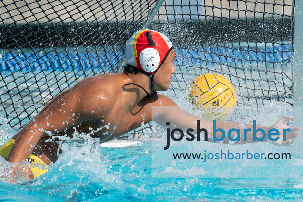 Capistrano Valley's Michael Morizano during the CIF-SS Division 4 boys water polo Final at William Woollett Jr. Aquatic Center on Saturday, November 10, 2018 in Irvine, Calif. (Photo by Josh Barber, Contributing Photographer)
