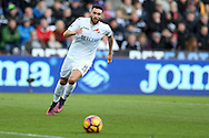 Borja Baston of Swansea city in action. Premier league match, Swansea city v Manchester Utd at the Liberty Stadium in Swansea, South Wales on Sunday 6th November 2016.<br /> pic by  Andrew Orchard, Andrew Orchard sports photography.