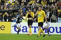 FOOTBALL - FRENCH CUP 2011/2012 - FINAL - OLYMPIQUE LYONNAIS v US QUEVILLY - 28/04/2012 - PHOTO JEAN MARIE HERVIO / REGAMEDIA / DPPI - JOY LISANDRO LOPEZ (OL) AFTER HIS GOAL