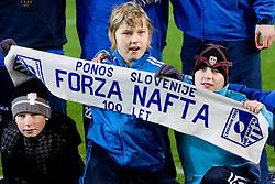 Young fans of Nafta after the football match between NK Olimpija and NK Nafta of 21th Round of First Slovenian League, on March 5, 2011 at Stadium SRC Stozice, Ljubljana, Slovenia. Olimpija defeated Nafta 2-0. (Photo By Vid Ponikvar / Sportida.com)