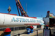 The Astroland Rocket at Coney Island was launched in 1962 as a simulator space ride, one of the first. It was decommissioned and removed in the 1970s, but has since returned as a static remnant of its past.