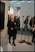 KAY SAATCHI; AMANDA ELIASCH, Opening of Frieze art Fair. London. 14 October 2014