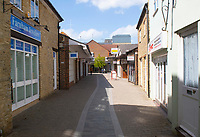 bicester town almost empty on the bank holiday weekend ,the only people out and about were food shopping