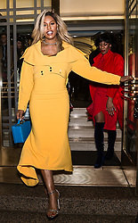 Celebrities arrive to the Christian Siriano fashion show during New York Fashion Week at Grand Lodge in New York. 10 Feb 2018 Pictured: Laverne Cox. Photo credit: MEGA TheMegaAgency.com +1 888 505 6342