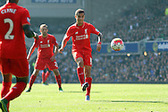 Philippe Coutinho of Liverpool shoots wide. Barclays Premier League match, Everton v Liverpool at Goodison Park in Liverpool on Sunday 4th October 2015.<br /> pic by Chris Stading, Andrew Orchard sports photography.