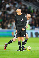 Pierluigi COLLINA / Zinedine ZIDANE - 20.04.2015 - Match contre la Pauvrete - Saint Etienne <br /> Photo : Jean Paul Thomas / Icon Sport *** Local Caption ***