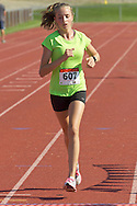Central Valley, New York - Camryn Johnson finishes the Woodbury Country Ramble race on Aug. 26, 2012.