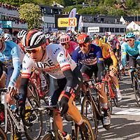 Alexander Kristoff i spurttrøya før målgang under Tour of Norway sykkelritt etappe 2: Kvinesdal - Mandal.
