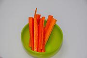 Carrot snacks - Cut vegetable snacks