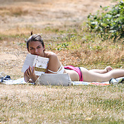 UK Weather: People sunbath in Hype park as heatwave continues in London, UK. July 26 2018.